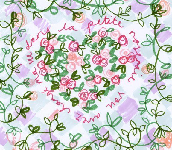 Petite Rosaraie - scarf design 4