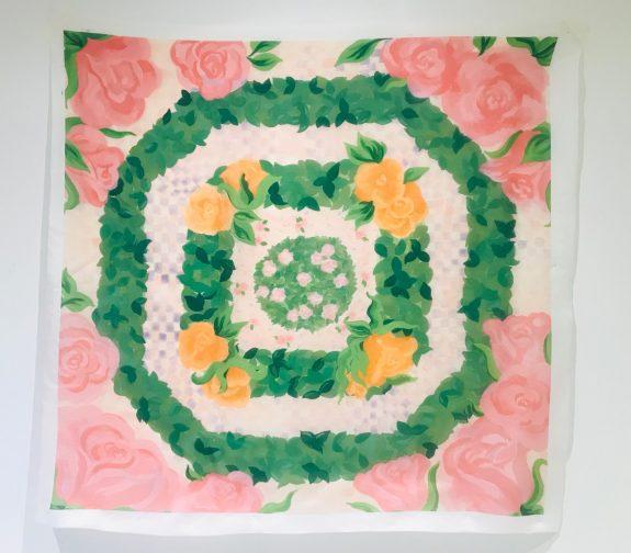 Petite Rosaraie - Parterre garden printed scarf