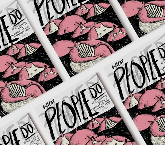 'What People Do' - Zine Front Page
