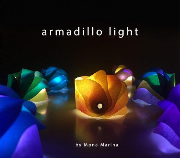 Armadillo Fold-away light for mobile phones