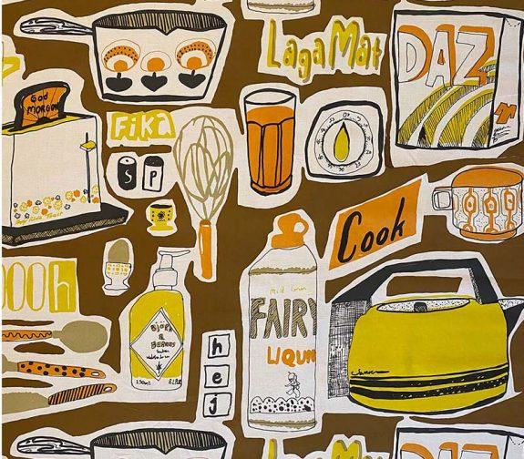 Ljusa hem. Feature print retro colourway