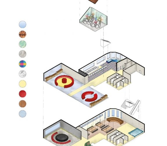 Exploded view second building